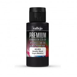 VALLEJO PREMIUM RC COLOR NEGRO METALICO