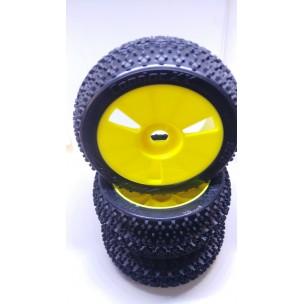 Cóndor Medium llanta amarilla 1/8 Buggy (4 Uds.)